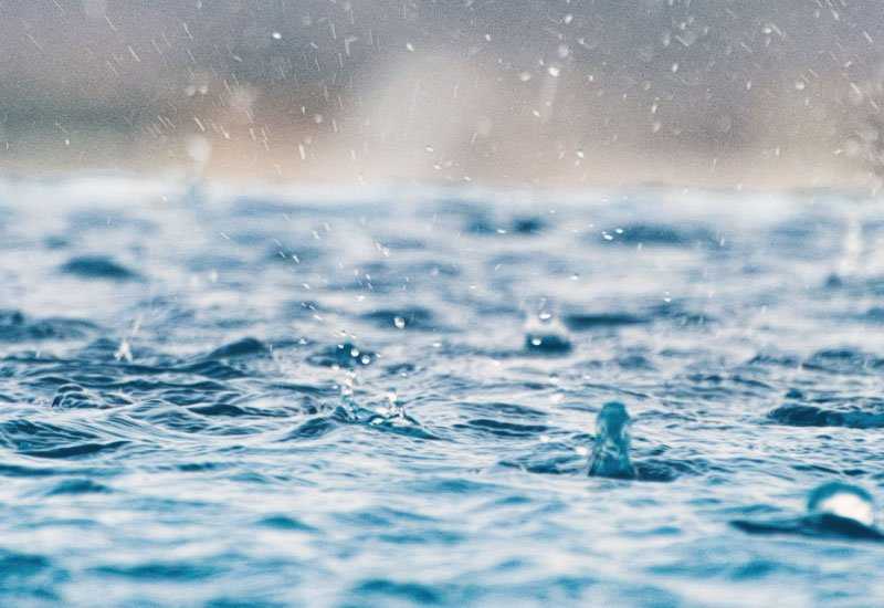 pluie piscine
